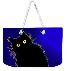 Snowflake Dizzycat On Blue Weekender Tote Bag