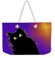 Snowflake Dizzycat On Purple Weekender Tote Bag