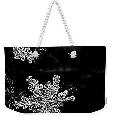 Snowflake Jewels Weekender Tote Bag by Shelly Gunderson