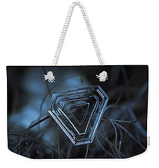Snowflake Photo - Almost Triangle Weekender Tote Bag by Alexey Kljatov