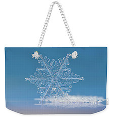 Snowflake Photo - Cloud Number Nine Weekender Tote Bag by Alexey Kljatov