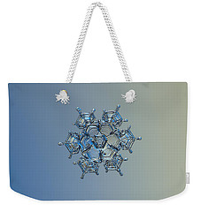 Snowflake Photo - Flying Castle Alternate Weekender Tote Bag by Alexey Kljatov