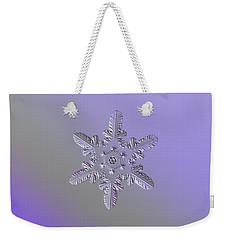 Snowflake Photo - Heart-powered Star Weekender Tote Bag