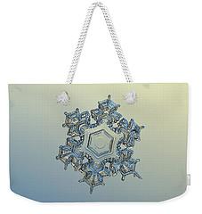 Snowflake Photo - Iron Crown Weekender Tote Bag