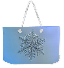 Snowflake Photo - Majestic Crystal Weekender Tote Bag by Alexey Kljatov