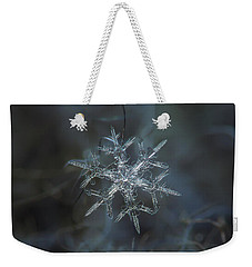 Snowflake Photo - Rigel Weekender Tote Bag by Alexey Kljatov