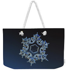 Snowflake Photo - Spark Weekender Tote Bag by Alexey Kljatov