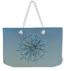 Snowflake Photo - Twelve Months Weekender Tote Bag by Alexey Kljatov