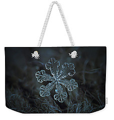 Snowflake Photo - Vega Weekender Tote Bag by Alexey Kljatov