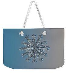Snowflake Photo - Wheel Of Time Weekender Tote Bag