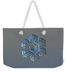 Snowflake Photo - Winter Technologies Weekender Tote Bag by Alexey Kljatov