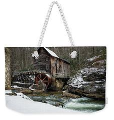 Snowing At Glade Creek Mill Weekender Tote Bag
