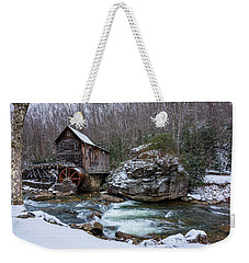 Snowing At The Mill  Weekender Tote Bag