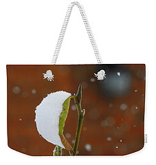 Snowing Weekender Tote Bag by Betty-Anne McDonald