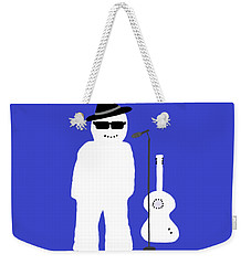 Weekender Tote Bag featuring the digital art Snowman Musician by Barbara Moignard