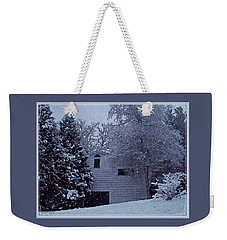 Weekender Tote Bag featuring the photograph Snow's Hush by Joy Nichols