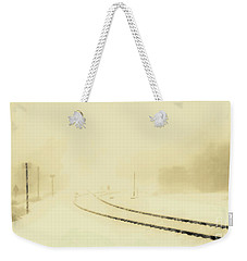 Snowstorm In The Yard S Weekender Tote Bag