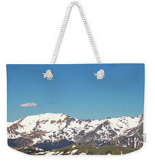 Snowtop Mountains Weekender Tote Bag