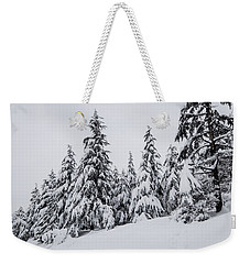 Weekender Tote Bag featuring the photograph Snowy-1 by Okan YILMAZ