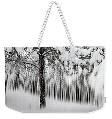 Weekender Tote Bag featuring the photograph Snowy-2 by Okan YILMAZ