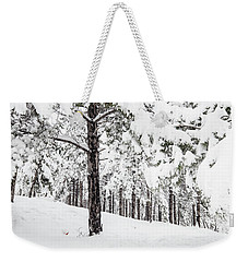 Weekender Tote Bag featuring the photograph Snowy-4 by Okan YILMAZ