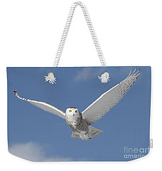 Snowy Angel Weekender Tote Bag