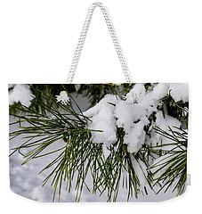 Snowy Branch Weekender Tote Bag