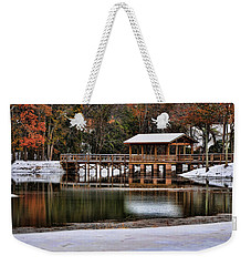 Snowy Bridge Weekender Tote Bag