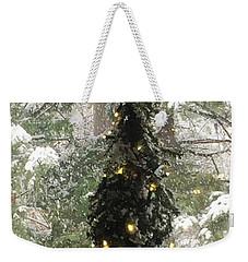 Snowy Christmas Weekender Tote Bag