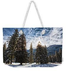 Snowy Clouds Weekender Tote Bag