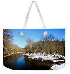 Snowy Creek Morning Weekender Tote Bag