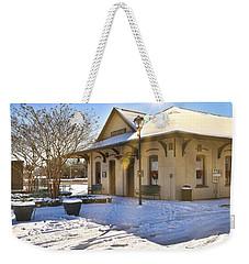 Snowy Depot Weekender Tote Bag