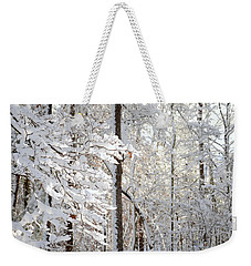 Snowy Dogwood Bloom Weekender Tote Bag