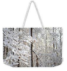 Snowy Dogwood Bloom Weekender Tote Bag