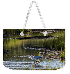 Snowy Egret X Tricolor Heron Weekender Tote Bag by David Bishop