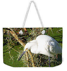 Weekender Tote Bag featuring the photograph Snowy Egret 003 by Chris Mercer