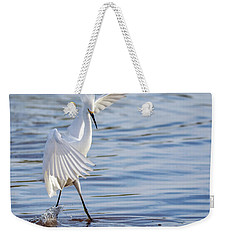 Snowy Egret 0322-111217-1cr Weekender Tote Bag