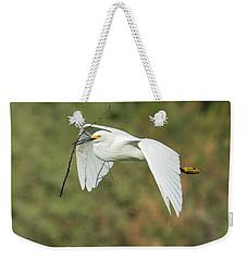 Snowy Egret 4786-091017-1cr Weekender Tote Bag