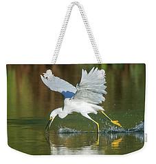 Snowy Egret 4845-091917-2cr Weekender Tote Bag