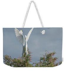 Snowy Egret 6844-100517-2 Weekender Tote Bag