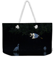 Snowy Egret Gliding In The Morning Light Weekender Tote Bag