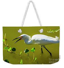Snowy Egret In Florida Weekender Tote Bag