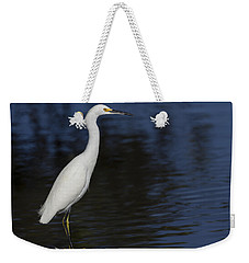Snowy Egret Perched On A Rock Weekender Tote Bag