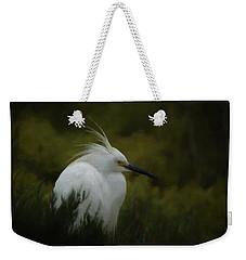Snowy Egret Portrait Da Weekender Tote Bag