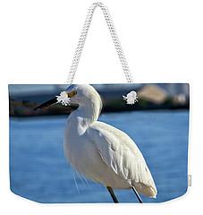 Snowy Egret Portrait Weekender Tote Bag by Robert Bales
