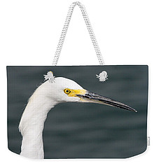 Weekender Tote Bag featuring the pyrography Snowy Egret Profile by Shoal Hollingsworth