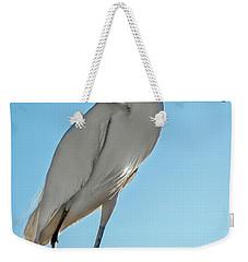 Snowy Egret Weekender Tote Bag by Robert Bales