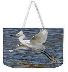 Snowy Egret Taking Off Weekender Tote Bag