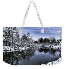 Snowy Ellicott Creek Weekender Tote Bag