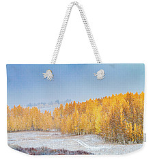 Snowy Fall Morning In Colorado Mountains Weekender Tote Bag